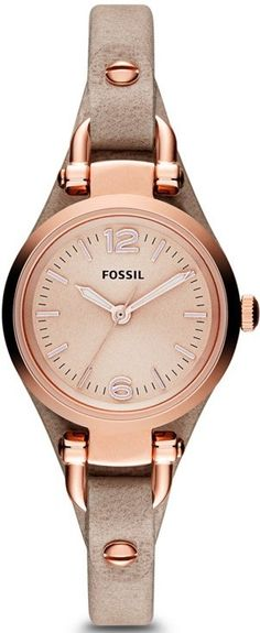 FOSSIL Georgia Mini Three Hand Leather Watch - Sand #ES3262