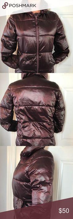 Gap burgundy Puffer coat Jacket Sz XS Super Soft! Recently washed! Thank you! GAP Jackets & Coats Puffers