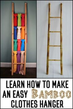 Learn How to Make a Bamboo Clothes Ladder