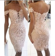 2017 Lace Short Bridesmaid Dresses Off the Shoulder Beaded Sexy Appliques Wedding Party Gown,220050