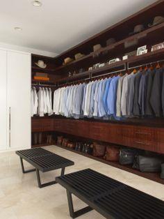 Walk in closet for men