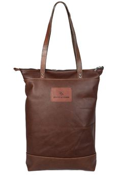 brown leather tote bag no. 426