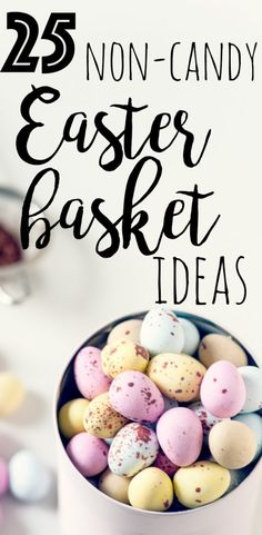 Easter baskets easter bunnies easter eggs chocolate free are you looking for some candy free easter basket ideas here are more than negle Images