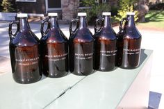 Groomsmen gift idea - Monogrammed / Personalized Growlers