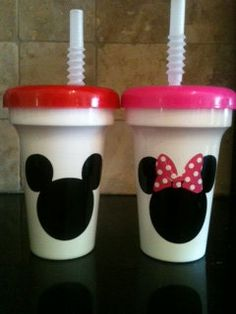 Mickey Mouse Party  5 Mickey Mouse with red top party favor cups by passionforparties, $15.00