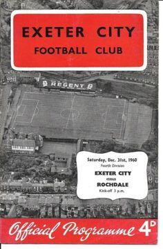 Exeter City, Rochdale, Football Program, Programming, Soccer, Futbol, European Football, Football, Soccer Ball