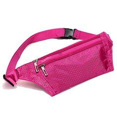 SODIAL(R) Unisex Bum bolso de la cintura de Handy Viajes Deporte Fanny Dinero Monedero Paquete Cinturon bolsa Zip - Rose