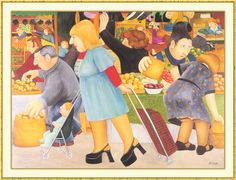 The Market : Beryl Cook.