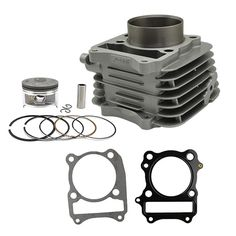 63.00$  Know more - http://ai65f.worlditems.win/all/product.php?id=1998045852 - Motorcycle Air Cylinder Block & Piston kit & Gasket  kit for SUZUKI DR200 SE DF200 96-09 VANVAN200 VAN VAN 200
