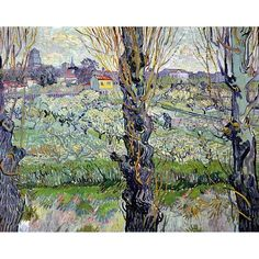 Artist: Vincent Van Gogh (1853-1890) Title Views of Arles, Flowering Orchards (Blind Stamp) Publisher Franz Hanstaegl Munich signed in plate Printed in Germany on 1926, 1st edition No. 40 Size 25 x 30 Condition 2 (1 in) rips and 1 1/2 in rip left border handling and