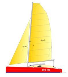 DUO 900 trailer plywood catamaran