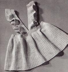 Vintage Toddler PETITE PINAFORE Dress