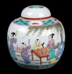 China 20. Jh. Porzellan Teedose - A Chinese Porcelain Tea Caddy - Chinois Cinese