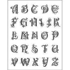 Pecsételő szilikon, 14x18 cm - ABC betűk, iniciálé, 2-2,5 cm - Art-Export webáruház
