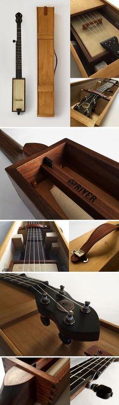 Bad River Banjo : The Cleage-Wills Travel Banjo #TravelGuitar