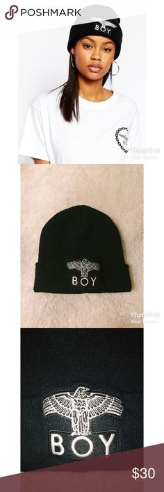 BOY London Eagle Beanie A nice black beanie perfect for coming winter ASOS Accessories Hats