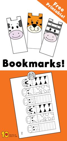 Related Posts 5 Crafts of Nursery Rhymes – Best Crafts of . Paper Butterfly and Flower Paper Lollipop Craft How to Draw a Jellyfish The Impossible Paper Trick 5 Split Pin Crafts for Kids Animal Masks For Kids, Mask For Kids, Animals For Kids, Animal Crafts For Kids, Bookmarks Diy Kids, Bookmark Craft, Crochet Bookmarks, Art Activities, Toddler Activities
