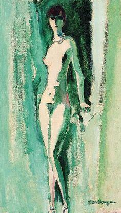 Artwork by Kees van Dongen, Nu fond vert Henri Matisse, Great Works Of Art, Painter Artist, Dutch Painters, Art Moderne, Modern Artists, Portraits, Figurative Art, Painting & Drawing