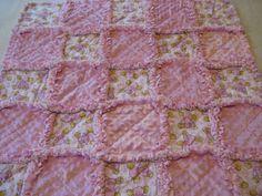 Pink Baby Girl Quilt Baby Girl Rag Blanket Elephant Nursery Baby Shower Gifts Rag Quilt Soft Baby Blanket Patchwork Quilt Toddler Blanket by farmernurse on Etsy
