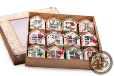 These little houses are adorable...and you can make them yourself! Twelve-houses-in-a-box-4