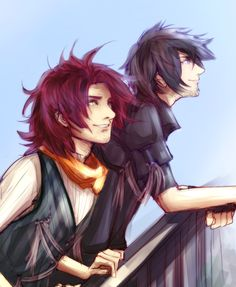 Ardyn & Noctis A picture of them where they're not enemies. Sadly this never happens in the game.
