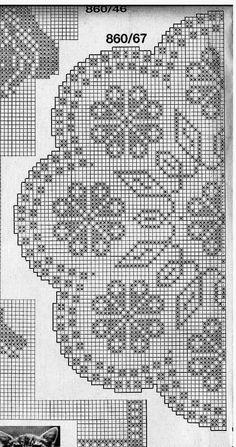 Best 12 Kira crochet: Crocheted scheme no. Crochet Doily Diagram, Filet Crochet Charts, Crochet Doily Patterns, Thread Crochet, Crochet Motif, Crochet Designs, Crochet Doilies, Crochet Stitches, Knit Crochet