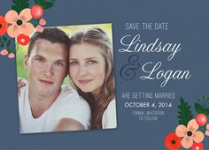 Love this cutesy floral save the date