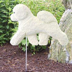Bichon Frise Dog Figure Yard Garden Stake. Home Yard & Garden Products & Gifts