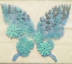 秋模様の蝶 切り絵 完成 | コトコト切り絵中