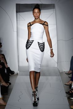 Chromat SS15 Runway Show | Now available for preorder | 3D Printed Pocket Skirt: http://chromat.co/collections/ss15-formula-15/products/3d-printed-pocket-skirt Neoprene Full Arc Top: http://chromat.co/collections/ss15-formula-15/products/neoprene-full-arc-top #chromat | #fashion | #sollewitt | #cage | #fashiontech | #nyfw | #gif