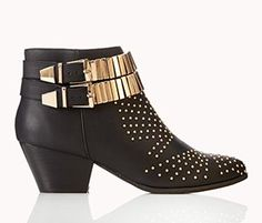 Forever 21 Moto Booties, $42.80 #shoes