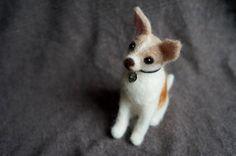 Custom Pet Portrait Needle Felted Dog by #JanetsNeedleFelting #Chihuahua #needlefelting