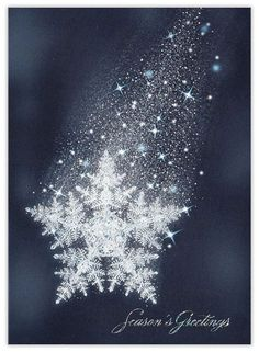 Descending Snowflake - Snowflake from CardsDirect