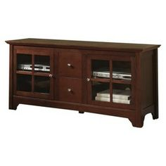 "Solid Wood TV Stand - Mahogany (52"")"