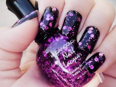 Cool nails with purple!