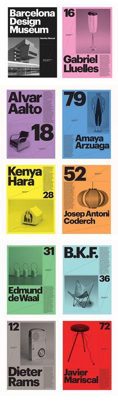 Limited Color Palette / Duotones / Each slide diff color /// Barcelona Design Museum - Atlas