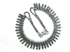 Rare German Silver Vintage Metal Necklace Statement Choker Necklace, Gift for MOM Mogul Interior http://www.amazon.com/dp/B00PQ6AZYO/ref=cm_sw_r_pi_dp_BPaCub15P2HRV