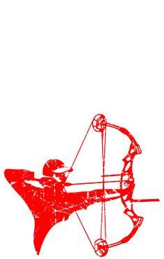 Bow Hunting Outdoors USA Flag Pride Tshirt