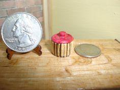 "Dollhouse Miniature 1:12 Canister Handcrafted by ""Oppi"" OOAK Home Decor #Q15  #HandcraftedMiniaturesbyArtisanOppi"