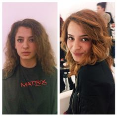 Before and after color for my model on Sweden's Next Top Model