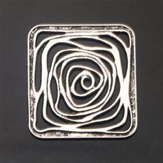 Square Flowers Tibetan Silver Crafts Jewelry Findings Connectors New Alloy Silver Jewelry Cleaner, Cleaning Silver Jewelry, Silver Jewelry Box, Metal Clay Jewelry, Enamel Jewelry, Jewelry Findings, Antique Jewelry, Silver Ring, Silver Earrings