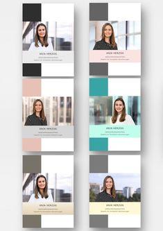 Modern resume design template set: ideal for a lot of work experience – frisuren locken Resume Design Template, Cv Template, Templates, Microsoft Word, Perfect Cv, Minimalist Business Cards, Cv Design, Business Portrait, Modern Resume