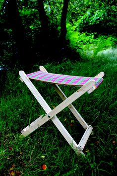 one man crochet - crochet camping stool