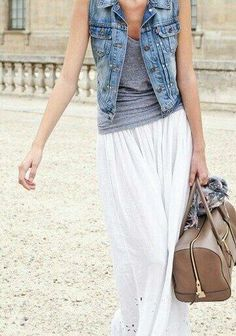 Denim vests, the perfect warm weather layering piece
