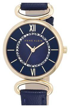 Anne Klein Leather Bangle Watch, 32mm