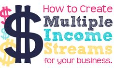 Awesome post on How to Create Multiple Income Streams for Your Business. Make Money Blogging, Make Money Online, How To Make Money, Best Business To Start, Starting A Business, Multiple Streams Of Income, Income Streams, Internet Marketing, Online Marketing