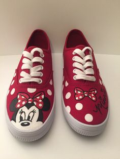 Hey, I found this really awesome Etsy listing at https://www.etsy.com/listing/262646241/minnie-mouse-polka-dot-shoes-womens