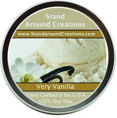 Premium 100 All Natural Soy Wax Aromatherapy Candle 6 oz Tin Very Vanilla Intense vanilla aroma subtle touch of cream and exceptional performance Aromatherapy Candles, Tin Candles, The 100, Vanilla, Essential Oils, Wax, Fragrance, Cream, Collections