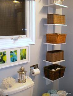 Good idea for.our tiny bathroom