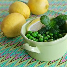 """Lemon Pea Salad I """"Sometimes simple is best, and that is the case here. So very simple to make, the uncooked peas pop in your mouth, and it's loaded with fresh flavor. This recipe is enough to make you consider growing your own peas. Loved it!"""""""